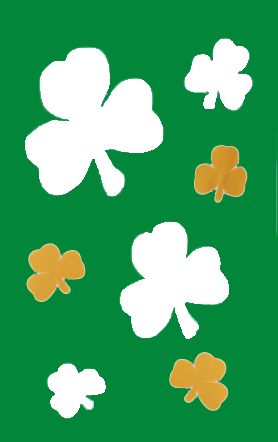 St. Patrick's Day Shamrocks Flag on Kelly