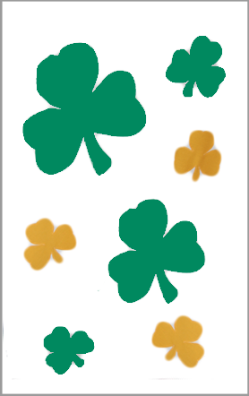 St. Patrick's Day Shamrocks Flag on White