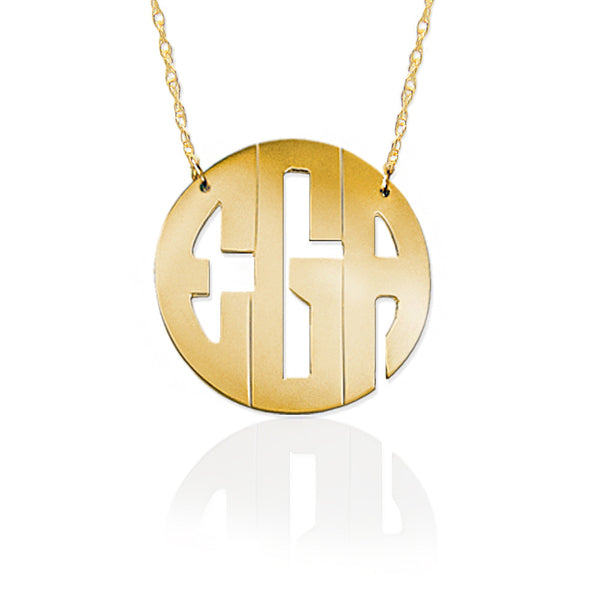 Jane Basch Designs Block Monogram Necklace