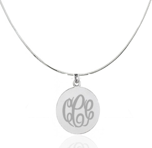Sterling Silver Pendant - Engraveable! Save 60%