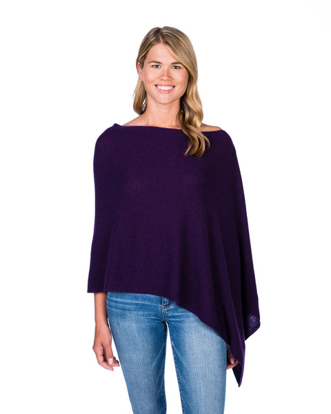 Claudia Nichole Cashmere Dress Topper - Cabernet