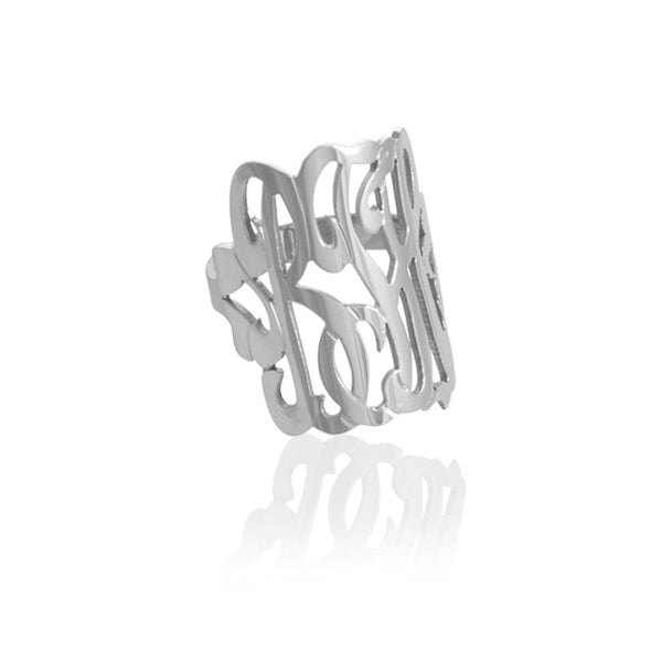 Jane Basch Designs Script Monogram Ring
