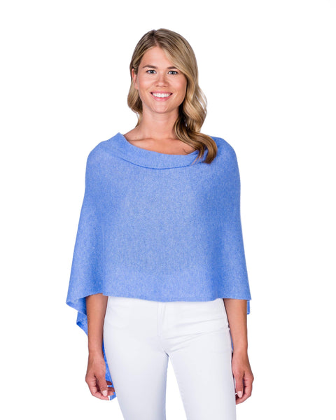 Claudia Nichole Cashmere Dress Topper - Blue Horizon