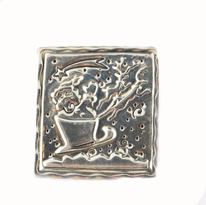 Sterling Silver Pin - Santa in Sleigh - 60% Off!