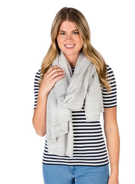 Alashan Cashmere Luxe travel Wrap - Denim
