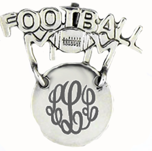 Sterling Silver Football Mom Pin - Save 65%!
