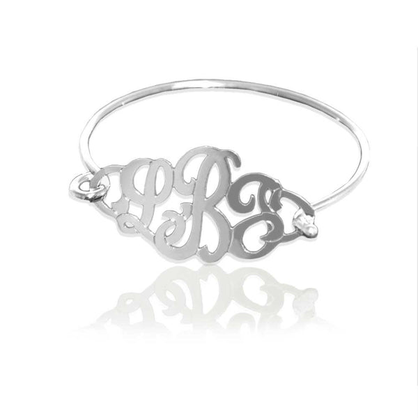 Jane Basch Designs Monogram Bangle Bracelet - Sterling Silver