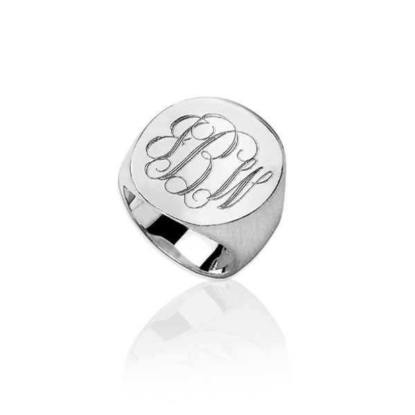 Jane Basch Designs Monogram Ring - FREE Engraving