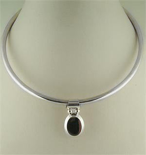 Sterling Silver Tall Oval Slide - Engravable 60% Off!