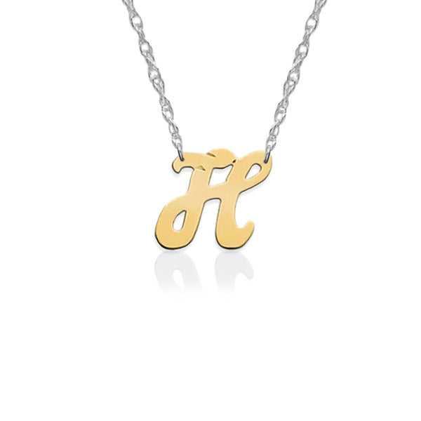 Jane Basch Designs Petite Personal Initial Necklace - 14K Yellow Gold