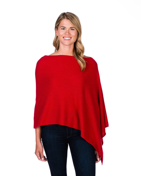 Claudia Nichole Cashmere Dress Topper - Crimson