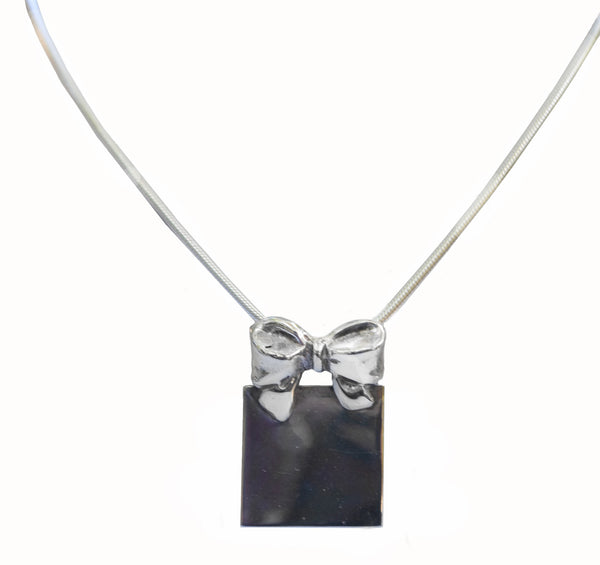 Sterling Silver Bow Pendant - 60% Off - Last One!