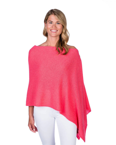 Claudia Nichole Cashmere Dress Topper - Coral Reef