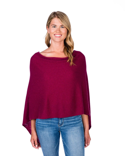 Claudia Nichole Cashmere Dress Topper - Cranberry
