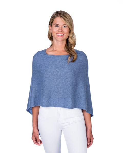 Claudia Nichole Cashmere Dress Topper - Blue Ridge