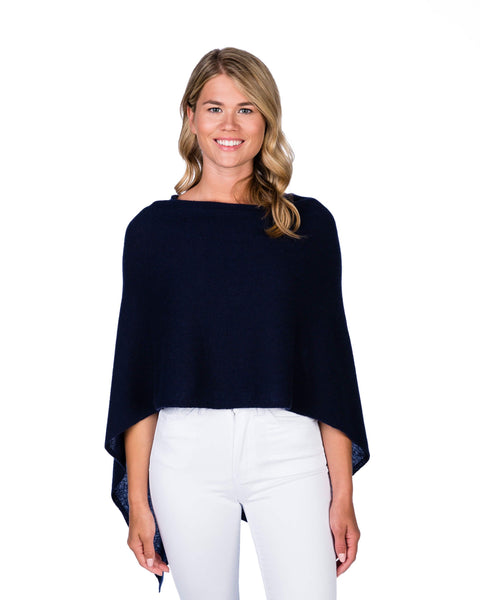 Claudia Nichole Cashmere Dress Topper - Indigo