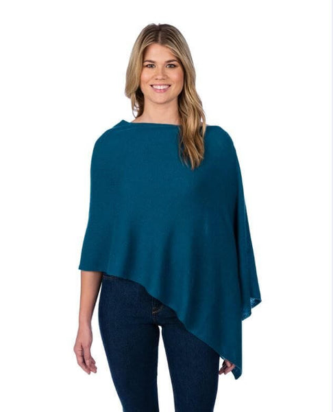 Claudia Nichole Cashmere Dress Topper - Teal