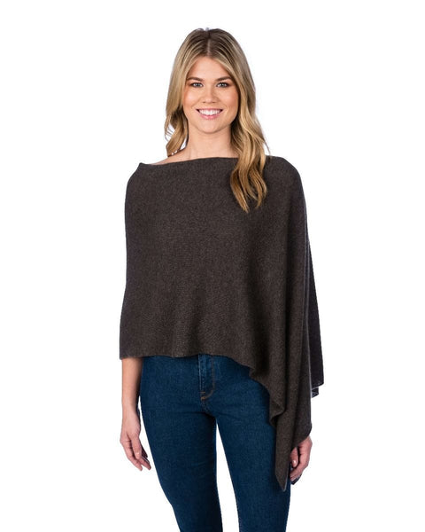 Claudia Nichole Cashmere Dress Topper - French Roast