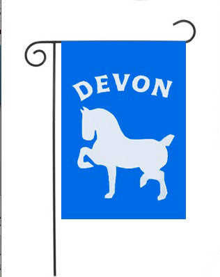 Devon Horse Show Applique Garden Flag