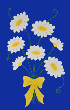 Daisy Bouquet House Flag on Royal