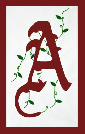 Initial Monogram 'A' Applique House Flag