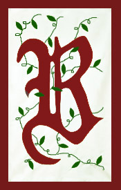 "Initial Monogram ""B"" Applique House Flag"