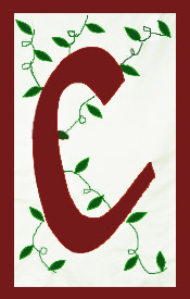 Initial Monogram 'C' Applique House Flag
