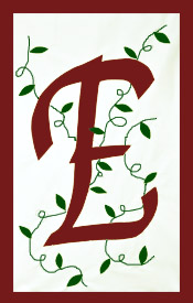 Initial Monogram 'E' Applique House Flag