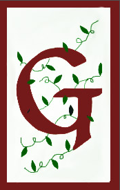 Initial Monogram 'G' Applique House Flag