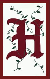 Initial Monogram 'H' Applique House Flag