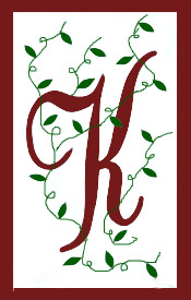 Initial Monogram 'K' Applique House Flag