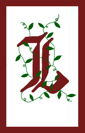 Initial Monogram 'L' Applique House Flag