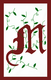 Initial Monogram 'M' Applique House Flag