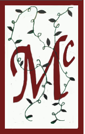 Initial Monogram 'Mc' Applique House Flag