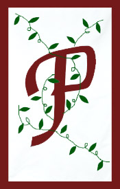 Initial Monogram 'P' Applique House Flag