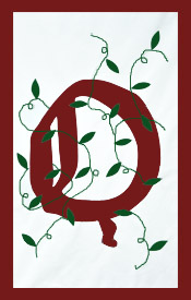 Initial Monogram 'Q' Applique House Flag