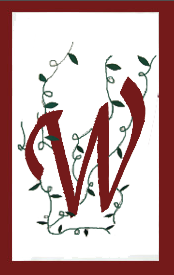 Initial Monogram 'W' Applique House Flag