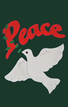 Peace Dove Applique House Flag on Forest