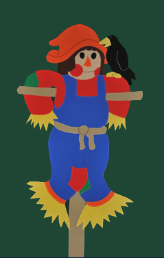 Scarecrow Applique House Flag