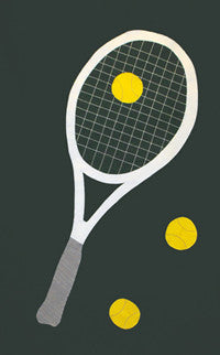 Tennis Racquet Flag - Choose your Background Color