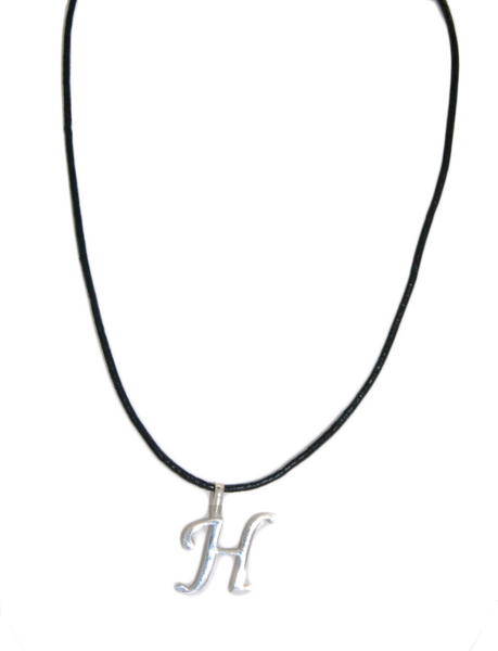 "Sterling Silver Initial ""H"" Necklace - 75% off!"