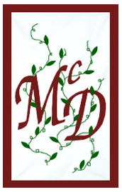 Initial Monogram 'McD' CLOTH Flag - 50% off!