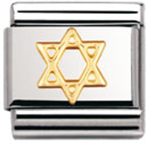 Authentic Nomination Link - Star of David - Gold