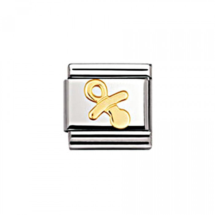 Nomination Composable Classic Letter G Stainless Steel and 18K Gold