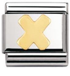 Authentic Nomination Gold Letter - X