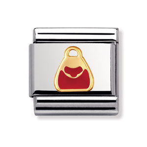Authentic Nomination Link - Red Purse - Enamel