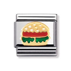 Authentic Nomination Link - Hamburger - Enamel