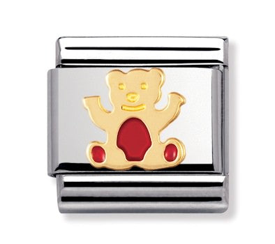 Authentic Nomination Link - Red Bear - Enamel
