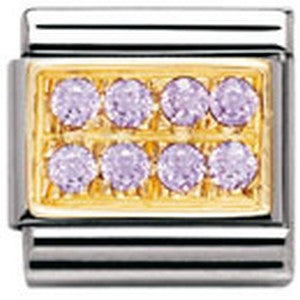 Authentic Nomination Link - Plate - Lilac CZ