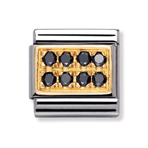 Authentic Nomination Link - Plate - Black CZ